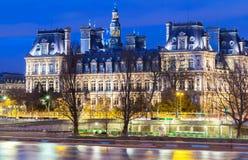 Comune di Parigi alla notte, Francia Immagini Stock
