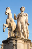 Comune di Roma town hall. Facade of Comune di Roma or town hall in Rome Italy with statue Royalty Free Stock Image