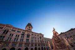 Comune di Trieste, Italia Fotografie Stock