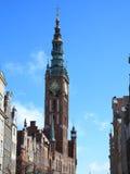Comune di vecchia città Danzica - in Polonia Immagini Stock Libere da Diritti