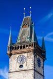 Comune famoso di Città Vecchia a Praga immagini stock libere da diritti