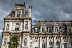 comune Hotel-de-Ville a Parigi - città dell'alloggio della costruzione dell'amministrazione del ` s di Parigi Fotografia Stock Libera da Diritti