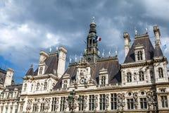 comune Hotel-de-Ville a Parigi - città dell'alloggio della costruzione dell'amministrazione del ` s di Parigi Fotografie Stock Libere da Diritti