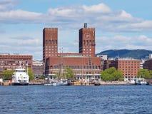 Comune (Radhuset) di Oslo, capitale della Norvegia Fotografia Stock