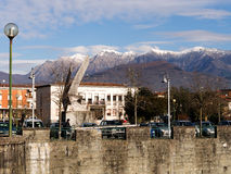 The Comune, Villafranca in Lunigiana, Italy, in winter. Royalty Free Stock Image