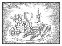 Comunhão de Holi ilustração stock