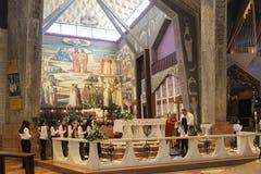 Comunión de la iglesia en la iglesia del anuncio en Nazaret, Foto de archivo libre de regalías