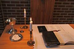 Comunión del Lutheran Foto de archivo