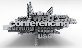 Comunicação da Web das palavras cruzadas Fotos de Stock