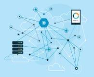 Comunicações de dados grandes Imagens de Stock