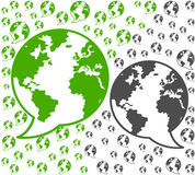 Comunicações do ambiente global Foto de Stock