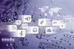 Comunicações do Internet Fotografia de Stock Royalty Free