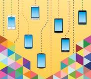 Comunicações do telefone celular Fotos de Stock