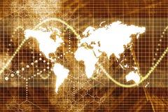 Comunicações empresariais mundiais alaranjadas ilustração do vetor