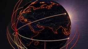 Comunicações 4k do mundo ilustração stock