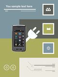 Comunicações móvéis Imagem de Stock