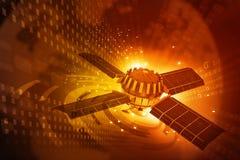 Comunicações satélites ilustração stock