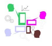 Comunicación stock de ilustración