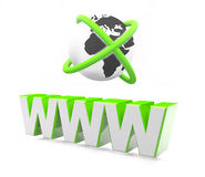 Comunicación de Internet de WWW libre illustration