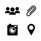 Comunicación de la charla Iconos relacionados simples del vector Foto de archivo