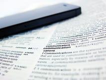 Comunicación de la palabra Imagen de archivo
