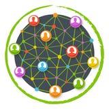 Comunicación de la red global Stock de ilustración