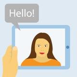 Comunicación de la tableta Imagen de archivo libre de regalías