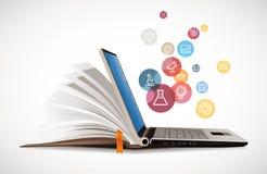 Comunicación de las TIC - aprendizaje electrónico stock de ilustración