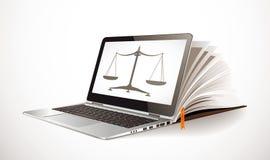 Comunicación de las TIC - concepto del aprendizaje electrónico - Internet como base de conocimiento Imágenes de archivo libres de regalías