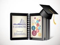Comunicación de las TIC - concepto del aprendizaje electrónico - Internet como base de conocimiento Fotos de archivo libres de regalías