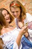 Comunicación de los adolescentes Foto de archivo libre de regalías
