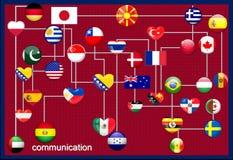 Comunicación de países stock de ilustración