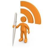 Comunicación de RSS Imagenes de archivo