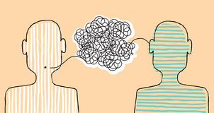 Comunicación de un mensaje libre illustration