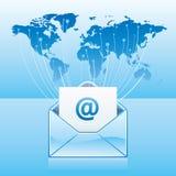 comunicación del email ilustración del vector