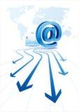 comunicación del email libre illustration