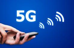 comunicación del estándar de la red 5G Imagen de archivo libre de regalías