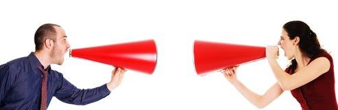 Comunicación del megáfono Foto de archivo libre de regalías
