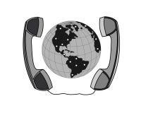 Comunicación del teléfono de las negociaciones del negocio Fotos de archivo