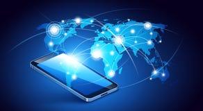 Comunicación del teléfono móvil Vector Imágenes de archivo libres de regalías