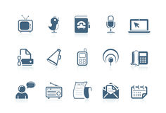 Comunicación e iconos sociales ilustración del vector