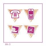 COMUNICACIÓN: El icono fijó 04 - la versión 3 Foto de archivo