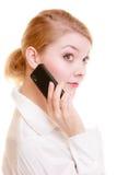 Comunicación Empresaria que habla en el teléfono celular imagen de archivo libre de regalías