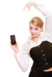 Comunicación Empresaria que muestra el teléfono celular foto de archivo libre de regalías
