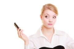 Comunicación Empresaria que rechaza llamada foto de archivo