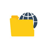 comunicación global de la tecnología de los datos de la carpeta ilustración del vector