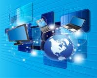 Comunicación global, ordenador y nueva tecnología Fotografía de archivo