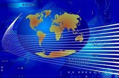 Comunicación global - vector ilustración del vector