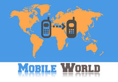 Comunicación móvil Imagenes de archivo