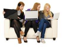 Comunicación social de las redes para la juventud Imagen de archivo libre de regalías